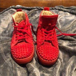 Christian Louboutin red sneaker